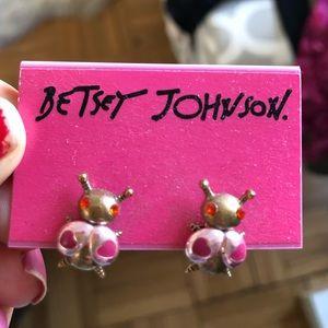Betsey Johnson lady bug stud earrings, NWT